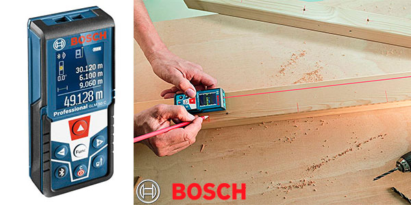 Medidor láser Bosch GLM 50 con Bluetooth barato
