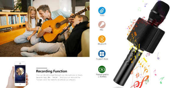 Micrófono Karaoke Bluetooth Mbuynow chollo en Amazon