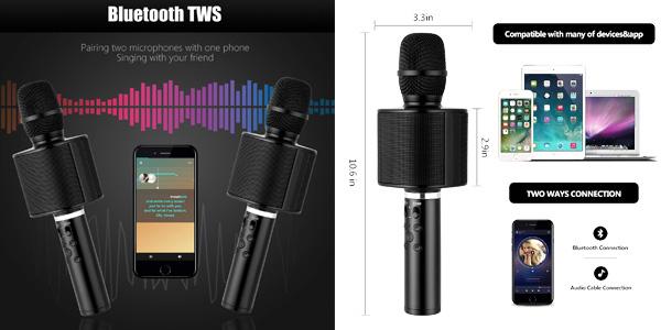 Micrófono Karaoke Bluetooth Mbuynow chollazo en Amazon