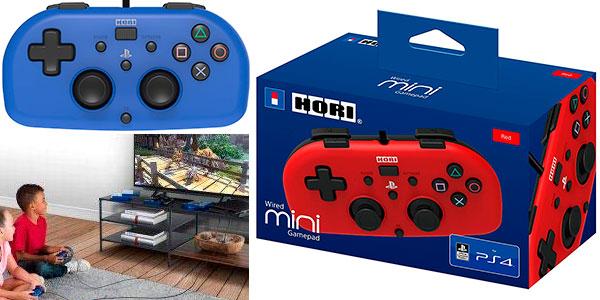 Mini mando Hori con cable para PS4 barato