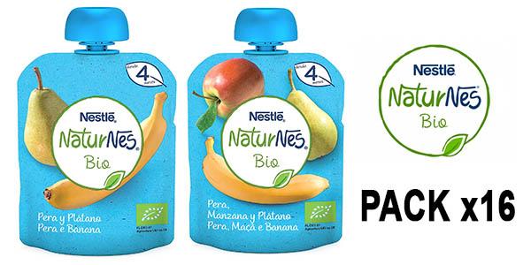 Nestlé NaturNes Bio puré de frutas orgánico para bebés pack ahorro