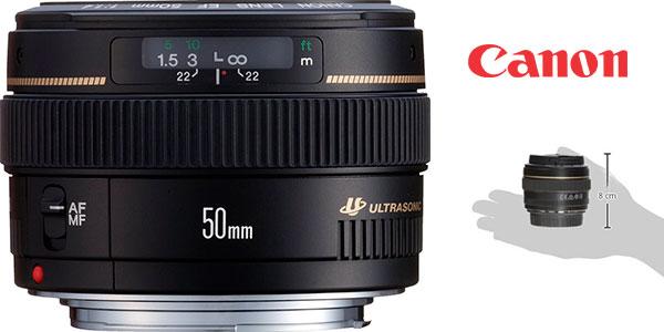 Objetivo Canon EF 50mm f/1.4 USM (distancia focal 50 mm, diámetro 58 mm) barato