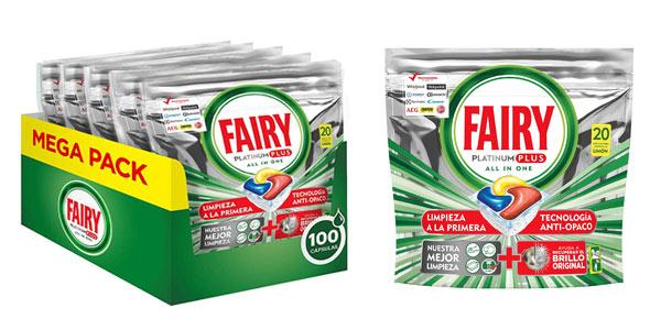 Pack 100 cápsulas Fairy Platinum Plus al mejor precio en Amazon