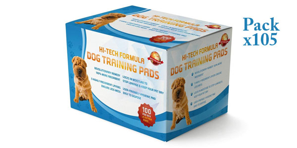 100 empapadores + 5 gratis Uploria Pet World para entrenar a cachorros barato en Amazon