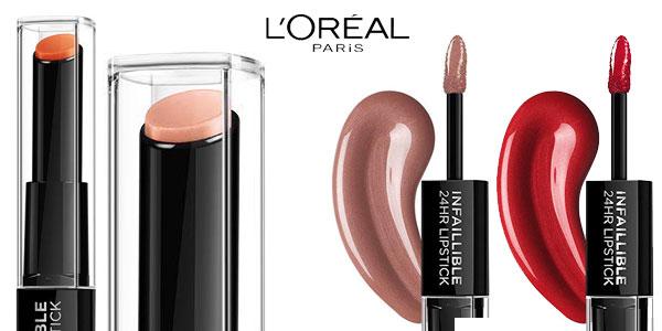 Pack x2 Labiales L'Oreal Paris Color Infalible 24H chollo en Amazon