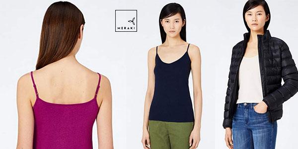 Pack 2 Camisetas de tirantes MERAKI para mujer chollazo en Amazon