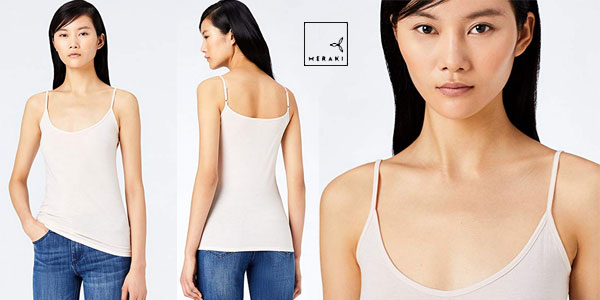 Pack 2 Camisetas de tirantes MERAKI para mujer chollo en Amazon