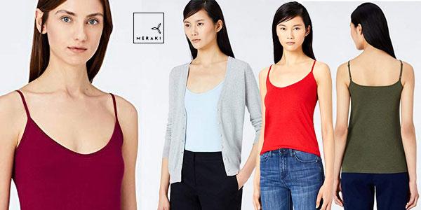 Pack 2 Camisetas de tirantes MERAKI para mujer barato en Amazon