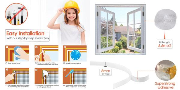 Pack x2 Mosquiteras MYCARBON para ventana 150 x 180 chollazo en Amazon