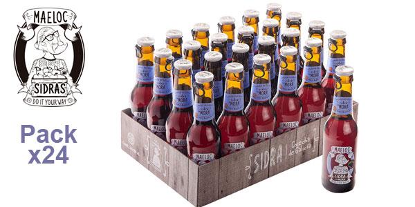 Pack x24 Botellines de Sidra con Mora Maeloc de 200 ml/ud barato en Amazon