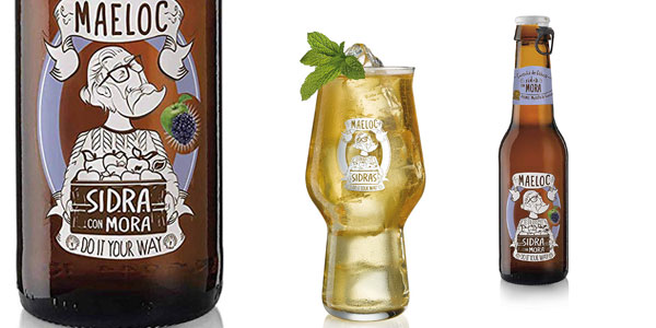 Pack x24 Botellines de Sidra con Mora Maeloc de 200 ml/ud chollo en Amazon