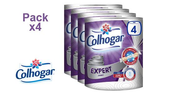 Pack x4 Papel Cocina Colhogar Expert Jumbo barato en Amazon