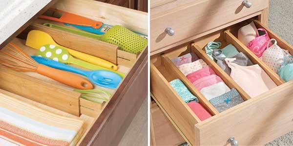 Pack x4 separadores organizadores de cajón Barbieya Kitchen Drawer chollo en Amazon