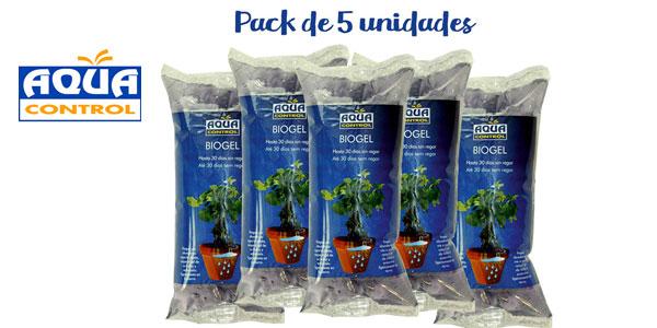 Pack x5 Biogel Aqua Control agua sólida para tus plantas barato en Amazon