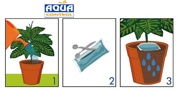 Pack x5 Biogel Aqua Control agua sólida para tus plantas chollo en Amazon