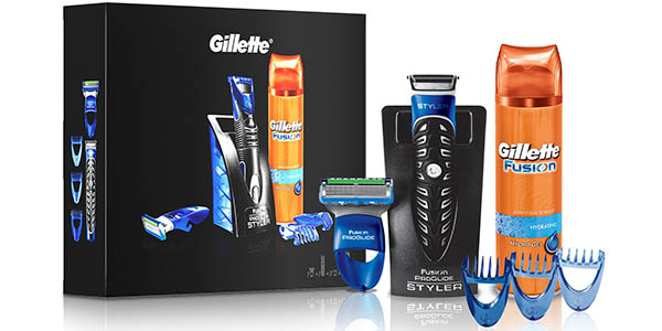 Pack Braun Gillette Fusion ProGlide Styler + gel afeitado Fusion
