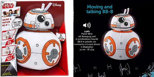Chollo Peluche BB-8 (Star Wars) de 30 cm con movimiento y sonido barato