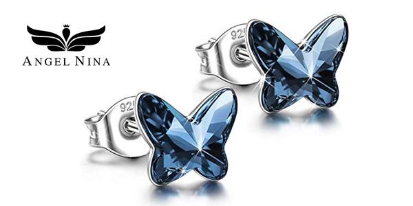 Pendientes Mariposa de Angel Nina con cristal Swarovski baratos en Amazon