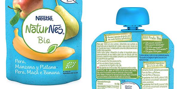 puré de fruta natural para bebés Nestlé NaturNes Bio oferta