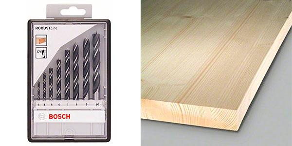 Set Bosch Robust Line de 8 brocas helicoidales para madera barato