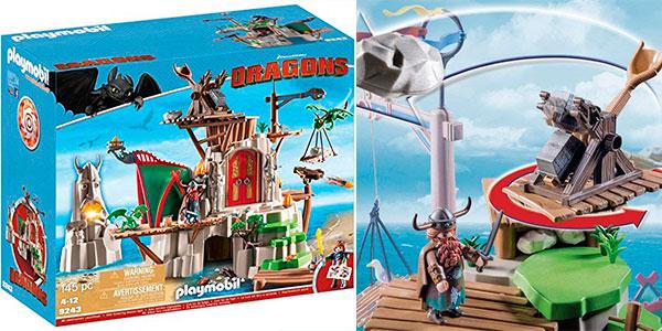 Set Campamento de Mema de Cómo entrenar a tu Dragón de Playmobil con 2 figuras barato