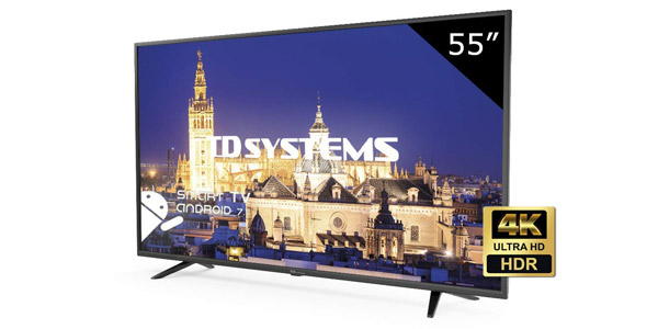 "Smart TV TD Systems K55DLY8US UHD 4K HDR10 de 55"" barata en Amazon"