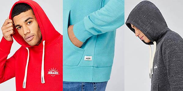 sudadera con capucha de algodón Hikaro oferta