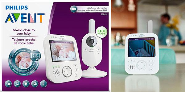 Vigilabebés Philips Avent SCD630 con cámara de visión nocturna barato