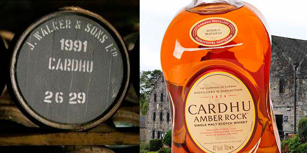 Whisky Cardhu Amber Rock de 700 ml barato