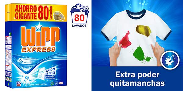 Wipp Express detergente en polvo 80 lavados barato