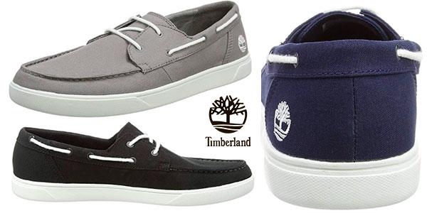 Zapatos náuticos Timberland Bayham Canvas para hombre baratos