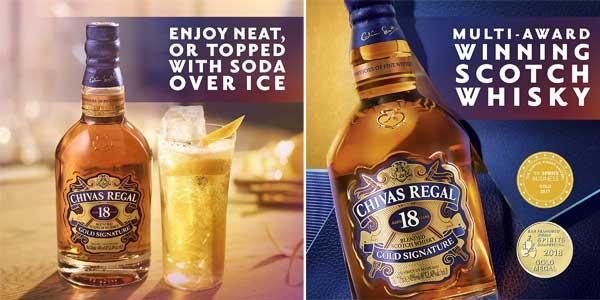 Botella Whisky Chivas Regal Golden Signature18 Años chollo en Amazon