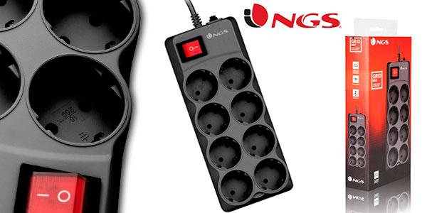 Chollo Regleta NGS Grid 800 de 8 salidas con limitador de tensión