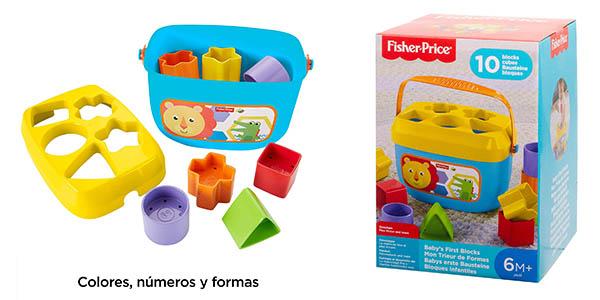 cubo de bloques Fisher Price para bebés chollo