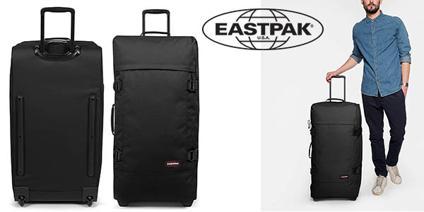 Eastpak Tranverz L maleta para viajes largos barata color negro