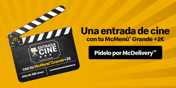 entrada cine con menú McDonald's promoción abril 2019