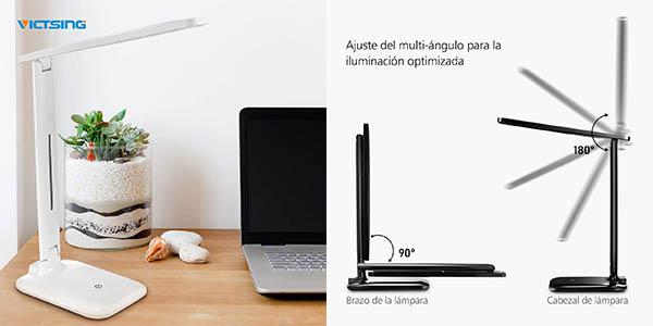 flexo LED para escritorio VicTsing ajustable en luminosidad chollo