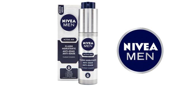 Fluido hidratante NIVEA MEN Active Age para hombre de 50 ml barato en Amazon