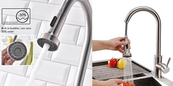 grifo de cocina con ducha extraíble Homelody barato