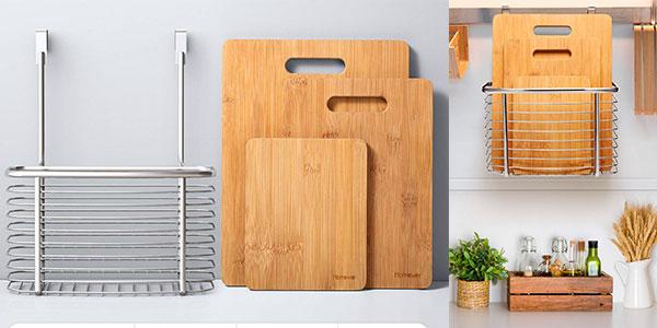 Juego Homever de tablas de bambú con soporte de acero para la cocina barato