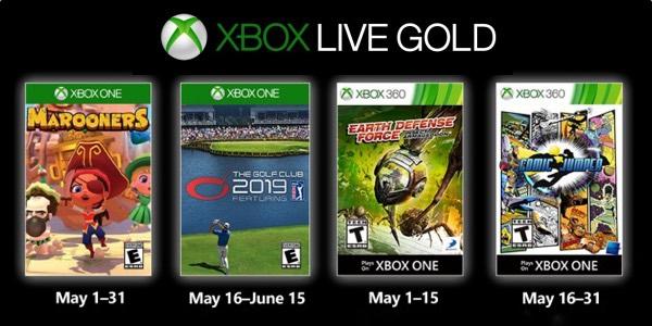 Juegos GRATIS con Gold mayo de 2019 para Xbox One