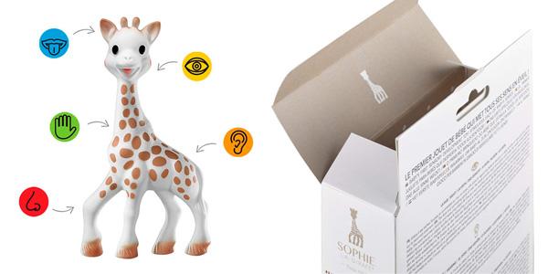 Juguete mordedor Sophie La Girafe con caja de regalo chollo en Amazon