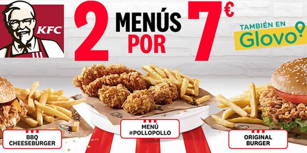 KFC promoción menús abril 2019