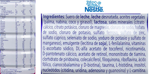 Leche de continuación Nestlé NATIVA 2 en polvo para bebés (800 g) barata