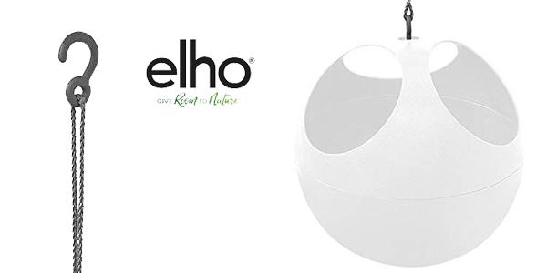 Maceta para plantas colgantes elho B. For Soft Air blanca chollazo en Amazon