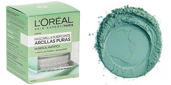 Mascarilla Purificante L'Oréal Arcillas Puras barata