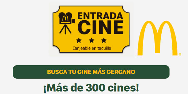 McDonald's entradas de cine gratis abril 2019