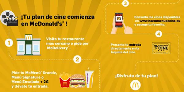 McDonald's entradas de cine gratis con tu McMenú