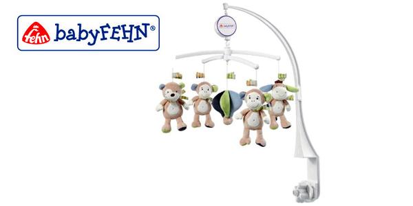 Móvil de cuna musical Monkey Donkey Fehn con diseño de monos barato en Amazon