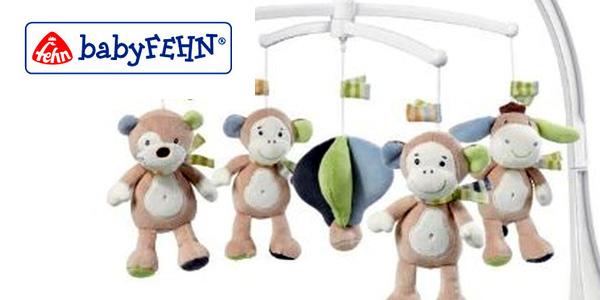 Móvil de cuna musical Monkey Donkey Fehn con diseño de monos chollo en Amazon